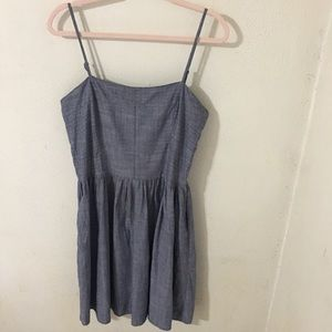 GAP Chambray Blue Fit & Flare Cami Dress Size 14